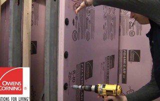 Installing FOAMULAR in a crawl space